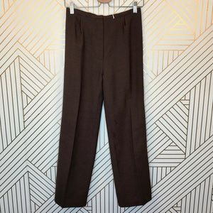 Vintage Eileen Fisher Brown High-Waist Trousers